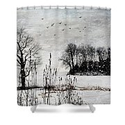 The Tree Shower Curtain by Stephanie Calhoun