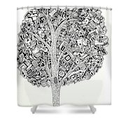 The Tree That Never Fails Shower Curtain