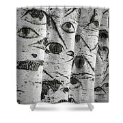 The Trees Have Eyes Shower Curtain by Wim Lanclus
