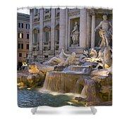 The Trevi Fountain At Dusk Shower Curtain