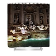 The Trevi Fountain In Rome Shower Curtain