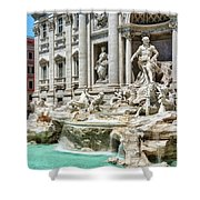The Trevi Fountain In The City Of Rome Shower Curtain