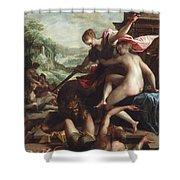 The Triumph Of Truth Shower Curtain by Johann or Hans von Aachen
