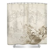 The Triumph Of Virtue And Divine Wisdom Shower Curtain