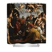 The Triumphal Entry Of Christ In Jerusalem Shower Curtain