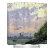 The Trocadero Shower Curtain by Albert Charles Lebourg