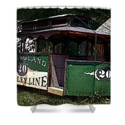 The Trolley Out Back Shower Curtain