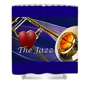The Trombone Jazz 001 Shower Curtain