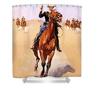 The Trooper 1892 Shower Curtain