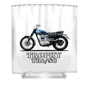 The Trophy Tr6 Sc Motorcycle Shower Curtain