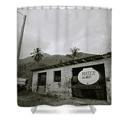 The Truck Stops Here Shower Curtain