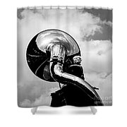 The Trumpet. Shower Curtain