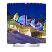 The Tschuggen Bergoase Spa Shower Curtain
