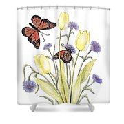 The Tulip And The Butterfly Shower Curtain