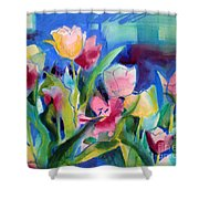 The Tulips Bed Rock Shower Curtain