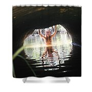 The Tunnel 7 Shower Curtain