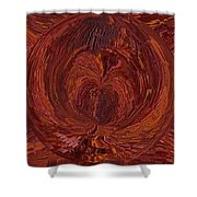 The Tunnel Red Shower Curtain