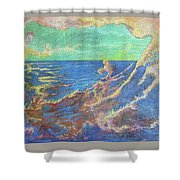 The Turbulent Sea Shower Curtain