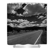 The Turquoise Trail Shower Curtain