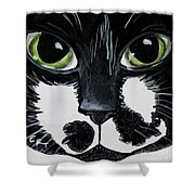 The Tuxedo Cat Shower Curtain