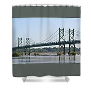 The Twin Bridges Shower Curtain