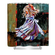 The Twirl Shower Curtain