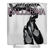 The Twirling Ballerina Cover Art Shower Curtain