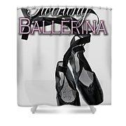 The Twirling Ballerina Cover Art Shower Curtain