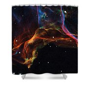 The Twisted Shockwaves Of An Exploded Star Shower Curtain