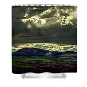 The Twisted Sky Shower Curtain