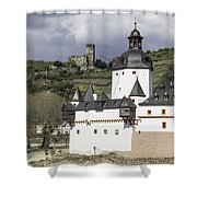 The Two Castles Of Kaub Germany Shower Curtain