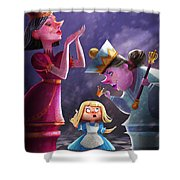The Two Queens, Nursery Art Shower Curtain