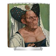 The Ugly Duchess, By Quentin Matsys Shower Curtain