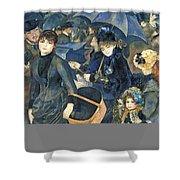 The Umbrellas Shower Curtain by Pierre Auguste Renoir