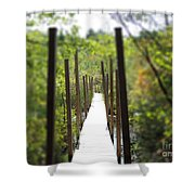 The Uncertain Path Shower Curtain