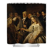 The Unequal Marriage Shower Curtain