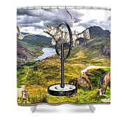 The Unimaginable Dream Of The Fish 2 Shower Curtain