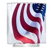 The United States Flag Shower Curtain