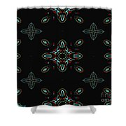 The Universe Display At Night Abstract Shower Curtain