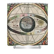 The Universe Of Ptolemy Harmonia Shower Curtain by Science Source