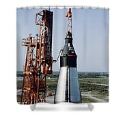 The Unmanned Mercury-atlas Capsule Sits Shower Curtain