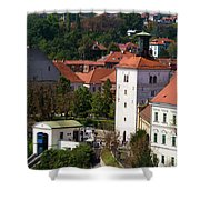 The Upper Town Shower Curtain