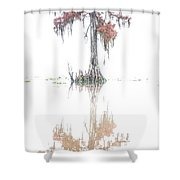 The Upside Down In Color Shower Curtain