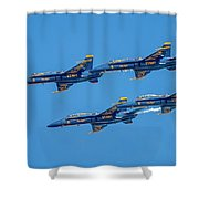 The Usn Blue Angels Shower Curtain