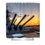 The Uss Missouri's Last Days Shower Curtain