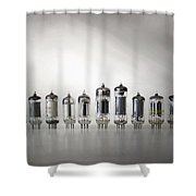 The Vacuum Tube Shower Curtain