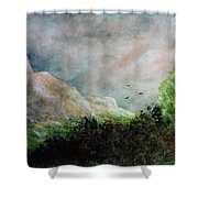 The Valley 1 Shower Curtain