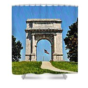 The Valley Forge Arch Shower Curtain