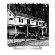 The Valley Green Inn In Black And White Shower Curtain