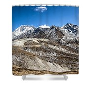 The Valley Leading To Mt Everest In Nepal Shower Curtain